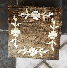 Wood with inlay stone jewelry box