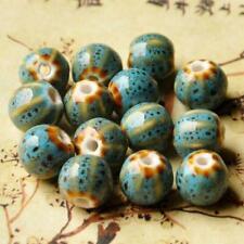 10pcs Ceramic Beads 12mm Vintage Flower Glaze Porcelain Bracelet Jewelry Make