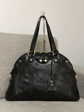 YSL YVES SAINT LAURENT Black Large Muse Bag Purse