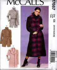 COAT Jacket PATTERN Woman's  SZ 14 - 16 - 18 - 20 - 22 COAT & BELT