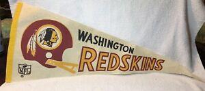 Vintage 1970s Pennant - NFL Washington Redskins Two Bar Football Helmet Logo