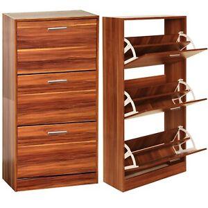 Shoe Cabinet Storage 3 Drawer Organiser Cupboard Footwear Stand Rack Wooden Unit