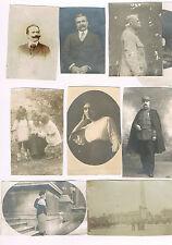 Lot de 9 photos redécoupées 6 x 8 à 6.5 x 10.5 cm famille début des années 1900