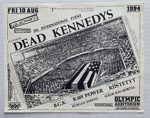 DEAD KENNEDYS An International Event 1984 Olympic Aud PUNK FLYER Goldenvoice