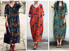 Hand-wash Only Casual Floral Maxi Dresses for Women