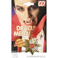 Count Dracula Medallion Vampiro collana HALLOWEEN FANCY DRESS COSTUME Prop