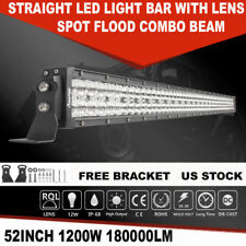 52INCH 1200W OSRAM STRAIGHT LED LIGHT BAR SPOT FLOOD OFFROAD DRIVING LIGHT 51""