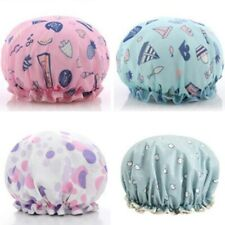 Waterproof Female Adult Double Printing Bath Cute Satin Beauty Cap Shower Cap