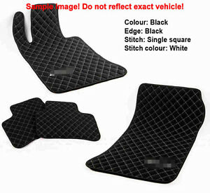Leather Car Floor Mats Luxury Bespoke Fully Tailored Fit Ford Mustand 2005-2014