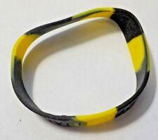"Yellow & Black ""BEAT LIVER TUMORS"" Rubber Cause Bracelet"