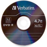 20 pk M DISC VERBATIM DVDR 4.7GB 4X Branded Logo in Paper Sleeves 98908