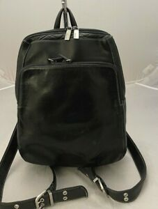Perlina Black soft Lambskin backpack
