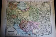 PERSIA (IRAN) & CENTRAL ASIA ATLAS MAP PAGE PLATE 1908 GEORGE F. CRAM PUBLISHER