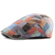Women Men Boys Vintage Herringbone Newsboy Flat Gatsby Cap Ivy Hat Cabbie Berets