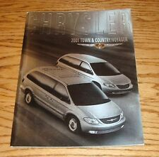 Original 2001 Chrysler Town & Country / Voyager Deluxe Sales Brochure 01