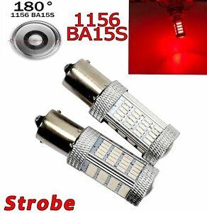 Strobe Red Rear Turn Signal Light 1156 BA15S P21W 7506 3497 92 LED Bulb A1 GM LA