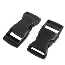 "1"" Spare Parts Belt Connecting Black Plastic Quick Release Buckle 2 Pcs New"
