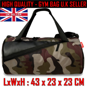 Army Print green Camouflage Duffel GYM bag travel sport small Strap bag Hold all