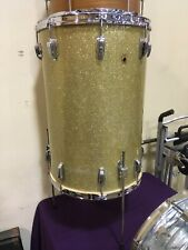 "1955 WFL 16X24"" CHAMPAGNE GLASS SPARKLE COCKTAIL DRUM. CHROME, NICE !   Ludwig"