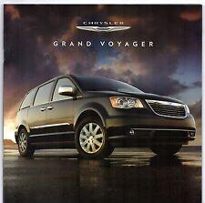 Chrysler Grand Voyager 2011-12 UK Market Sales Brochure LX Touring Limited
