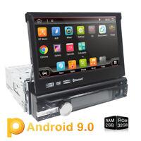7 Inch Single 1DIN Car Stereo Android 9.0 GPS Nav WiFi 4G DVR OBD DAB+ FM/AM RDS