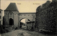 Thorn Toruń Polen s/w AK 1916 gelaufen Der Dansker Toilettenanlage der Burg