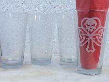 celtic skull shamrock set of 4 pint glasses viking norse thors hammer asatru