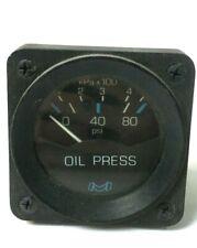 MEDALLION BLACK 80 PSI BOAT OIL PRESSURE GAUGE