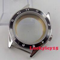 Solid 41mm sapphire glass ceramic bezel SS watch case fit ETA 2836 movement C72