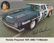1974 Mark Donohue Penske AMC Matador NASCAR Winston Cup postcard