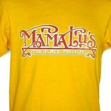 Mama Lus BBQ T Shirt Vintage 80s Ribs 50/50 Made In USA Yellow Size Medium