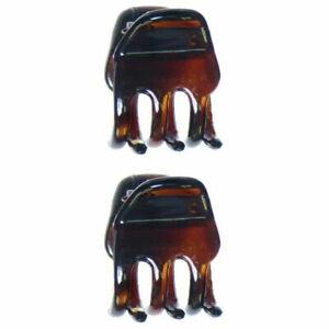 Caravan Mini Tortoise Shell Fish Hair Claw Pair Model No. 252/2 Brand New