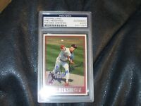 OREL HERSHISER Autographed Topps Baseball Card PSA Certified Encapsulated