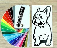 French Bulldog Sticker Vinyl Decal Adhesive Wall Window Bumper Laptop Phone BLCK