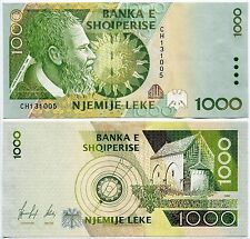 Albania 1000 leke Paper Money, New Banknote of 1996. UNC
