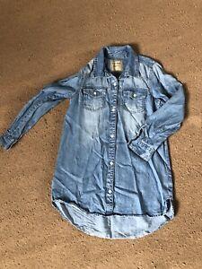 Next Girls Denim Shirt Dress Age 8