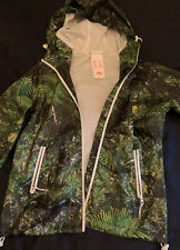 Superdry Womens Rain Coat Leaf Jungle Pattern Rare Size S Excellent Condition
