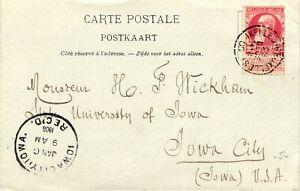 GP GOLDPATH: BELGIUM POST CARD 1905 _CV628_P04