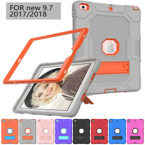 Shockproof Heavy Duty Hard Case Stand Cover for iPad 9.7 10.2 7/8th Gen Mini 4 5
