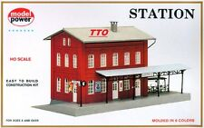 Ho Scale Trains Model Power 2 Story Train Station Building Kit Nib