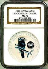 2005 S$1 Australia Kookaburra Zodia Cancer Privy NGC MS70