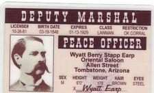 DEPUTY MARSHALL Wyatt Earp LAWMAN OK CORRAL Tombstone Arizona AZ Drivers License