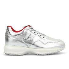 HOGAN CLUB INTERACTIVE Sneakers Donna EU 40 UK 7 Argento HO038 SCONTO 40%