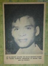 Prof. Le Quang Vinh - 1962 Anti Execution - Vc Leaflet - Vietnam War - 1911