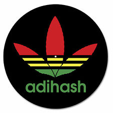 Adihash Ganja/Marijuana/Pot Turntable slipmats - high quality - brand new (PAIR)
