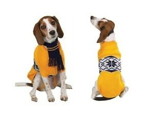 Dog Nordic Sweater w/ Scarf S Small
