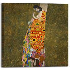 Gustav Klimt la speranza 2 design quadro stampa tela dipinto telaio arredo casa