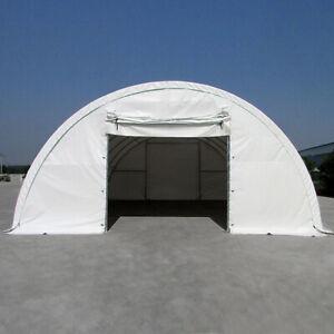 Rundbogenhalle Lagerhalle Weidezelt 91,5 bis 237,9 m² ALLE GRÖßEN weiß grün NEU
