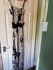 BNWT Womens Beige and Black Miss Sixty Belted Maxi Dress. Size 10.