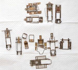 Lot Vintage scratchbuilt 1/32 brass chassis parts repair